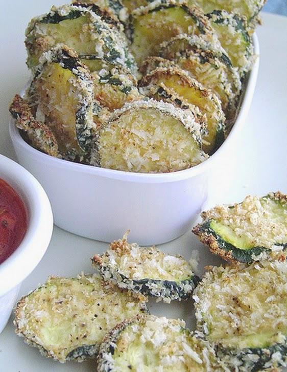 Chips de Abobrinha ao Forno (vegana)