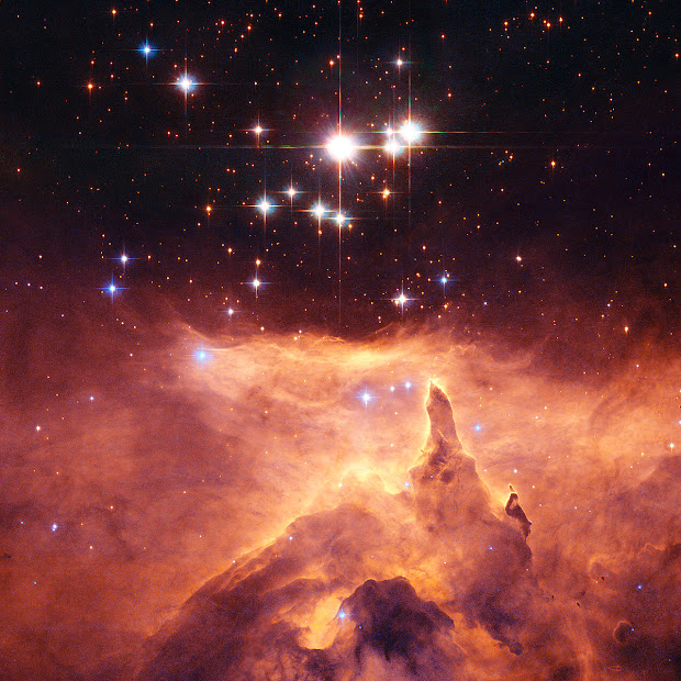 Star Cluster Pismis 24 and Emission Nebula NGC 6357 by Hubble