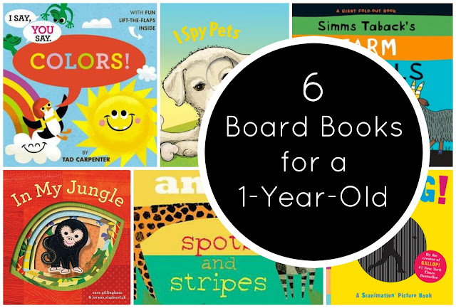 6 Board Books for a One Year Old