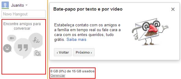 Novo Chat Gmail - Google Hangout