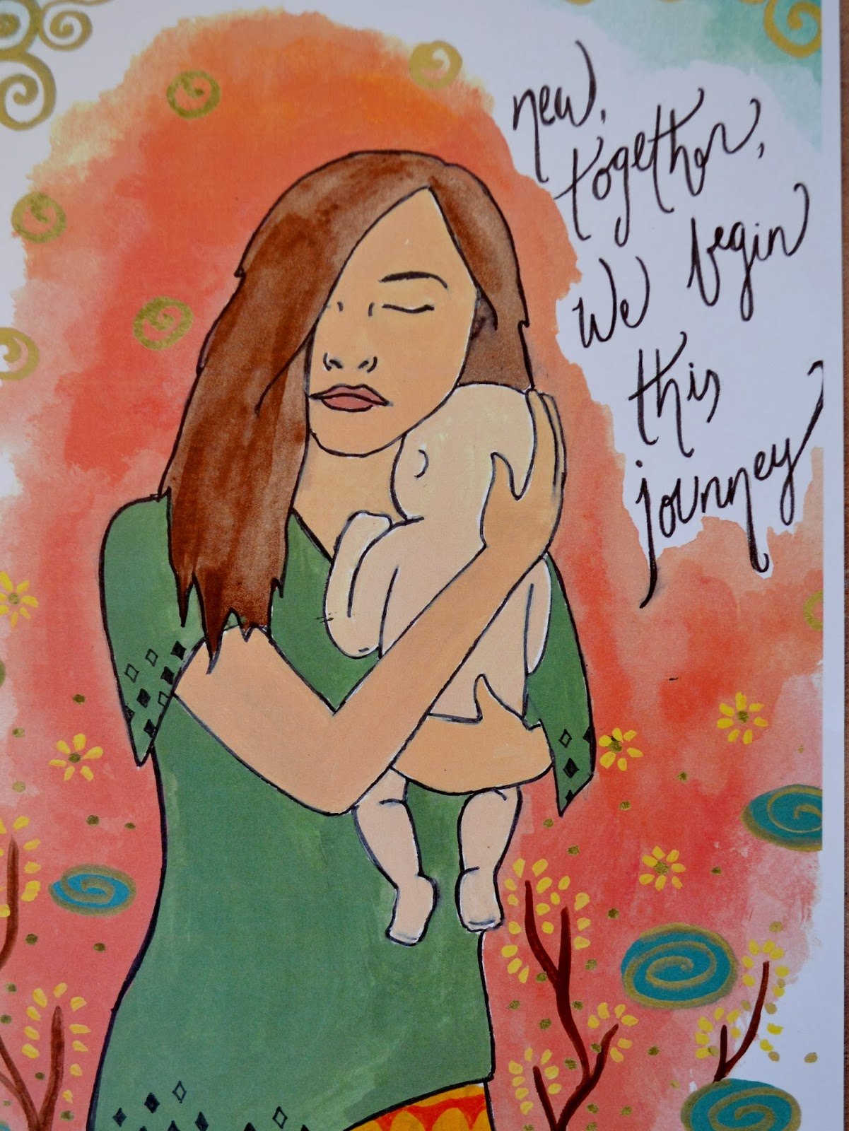 JOURNEY new mother art print/ spiritysol