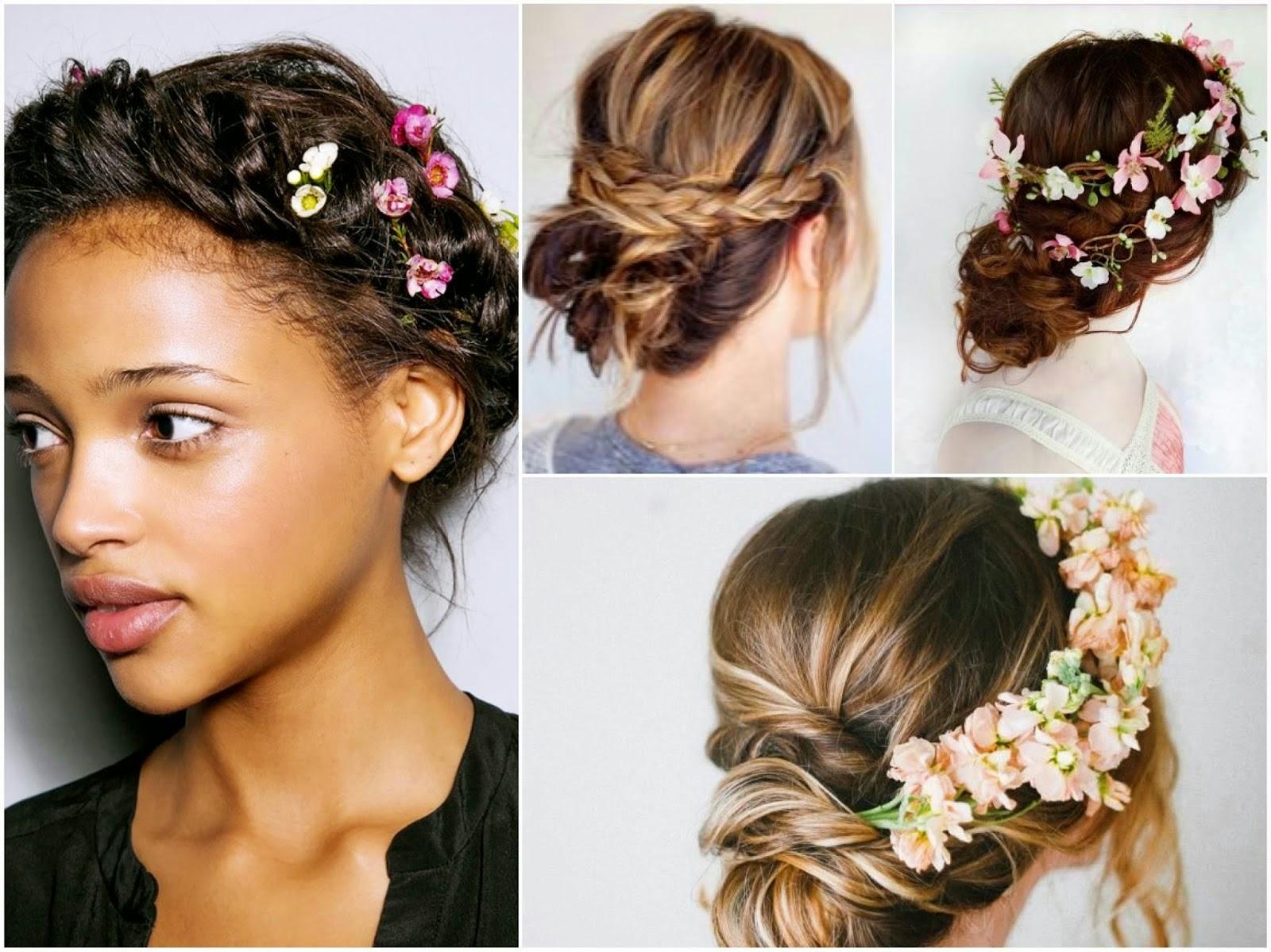 Peinados de novia 2018 Diseños con flores naturales (Foto) Ella Hoy - Flores Naturales Para Peinados