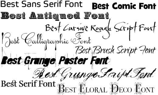 Bridal And Fashion Tattoo Fonts Style