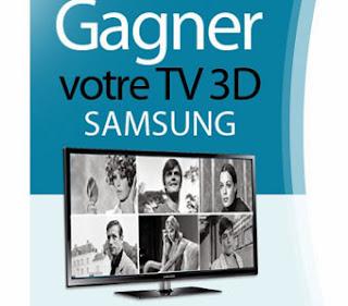Jeu concours Gagnez 1 TV plasma 3D Samsung, 100 DVD