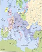 Mapa de Europa , mediados del s. XII. (europa )