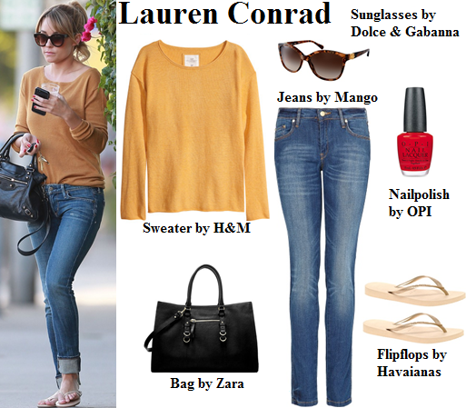 lauren conrad, outfit, fall, sweater, style
