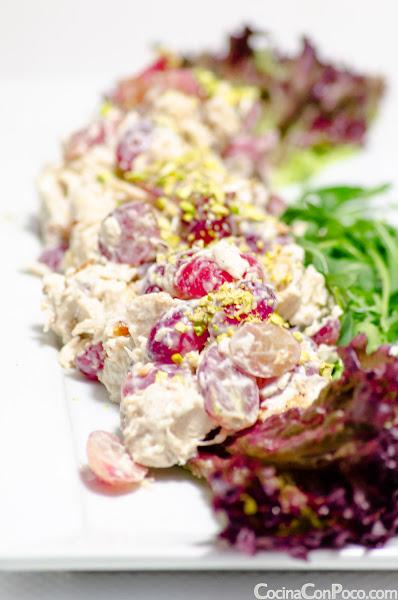 Ensalada de Pollo, Uvas y Frutos Secos - Receta facil
