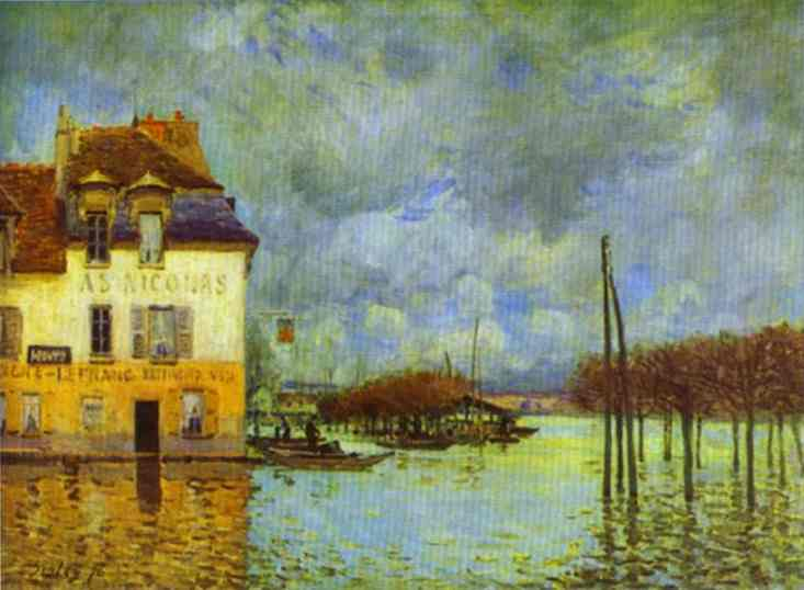 an analysis of the flood at port marley by alfred sisley La barque pendant l'inondation, port-marly [boat in the flood at port marly] in  1874, sisley moved to marly-le-roi and became the chronicler of this village.