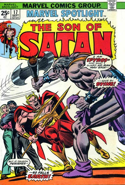 Marvel Spotlight #17, The Son of Satan, Spyros