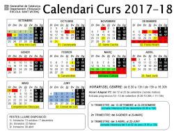 Calendari curs 2017-18