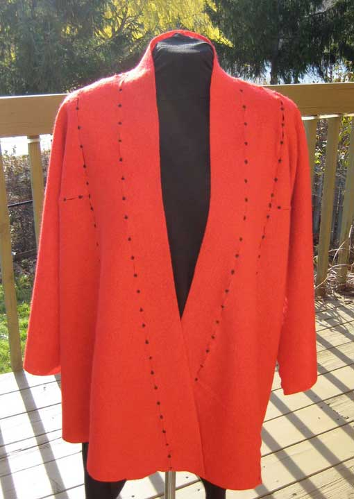 Boiled Wool Jacket Front