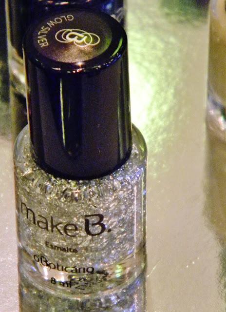 esmalte com glitter Make B