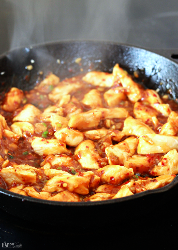 mongolian chicken — delicious, spicy, and just as good as take-out! │ thehappytulip