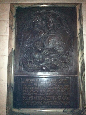Gedenktafel zu ehren von Lord Lytton, St. Paul's Cathedral, London