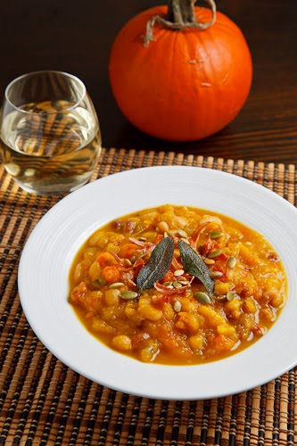 Roasted Pumpkin, Pancetta and Sage Soup on Closet Cooking