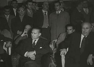 Autoridades, organizadores y asistentes al II Torneo Internacional de Ajedrez Madrid 1957