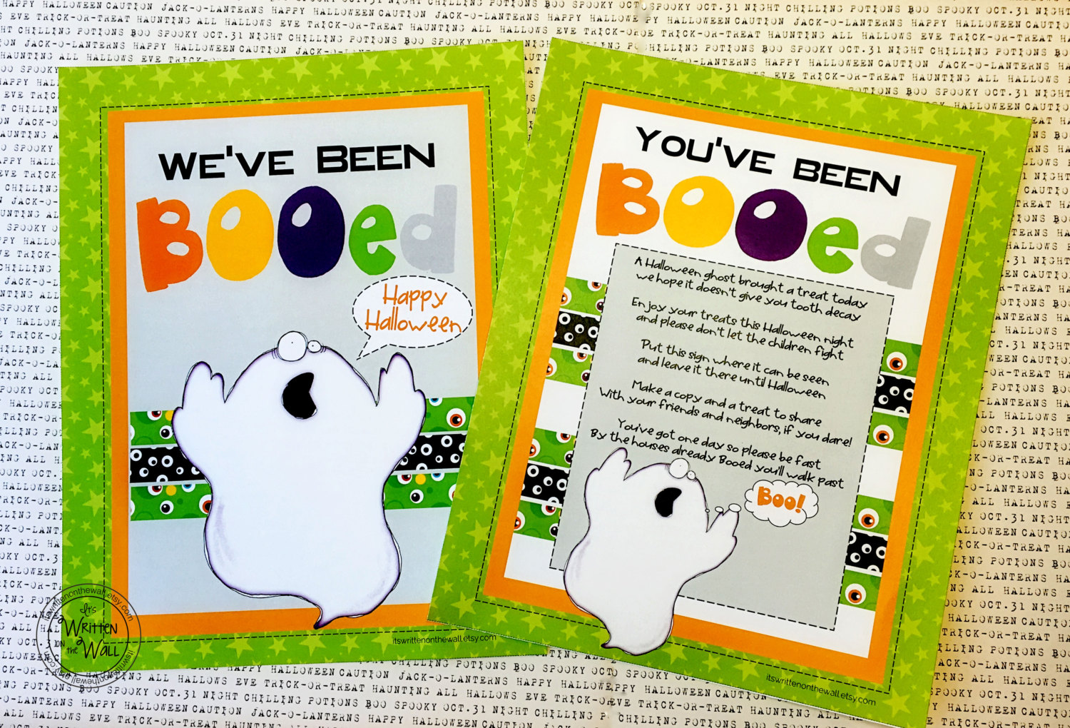 You've Been Booed Printable and Treat Carrier