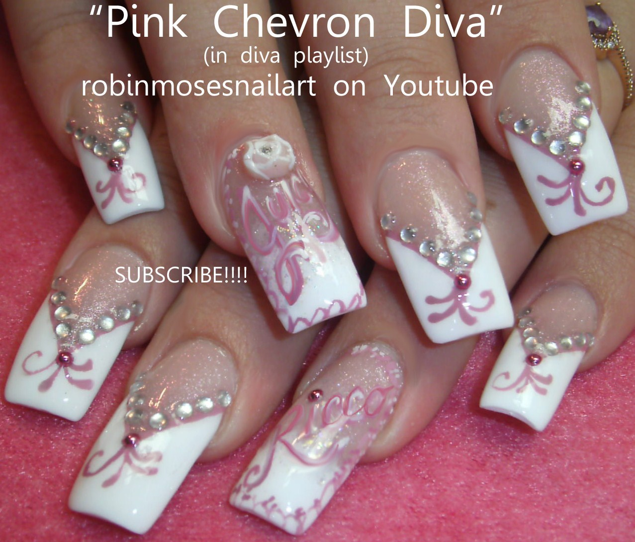 Nail Art Design: glam rock rebel nail art, juicy J nail art ...