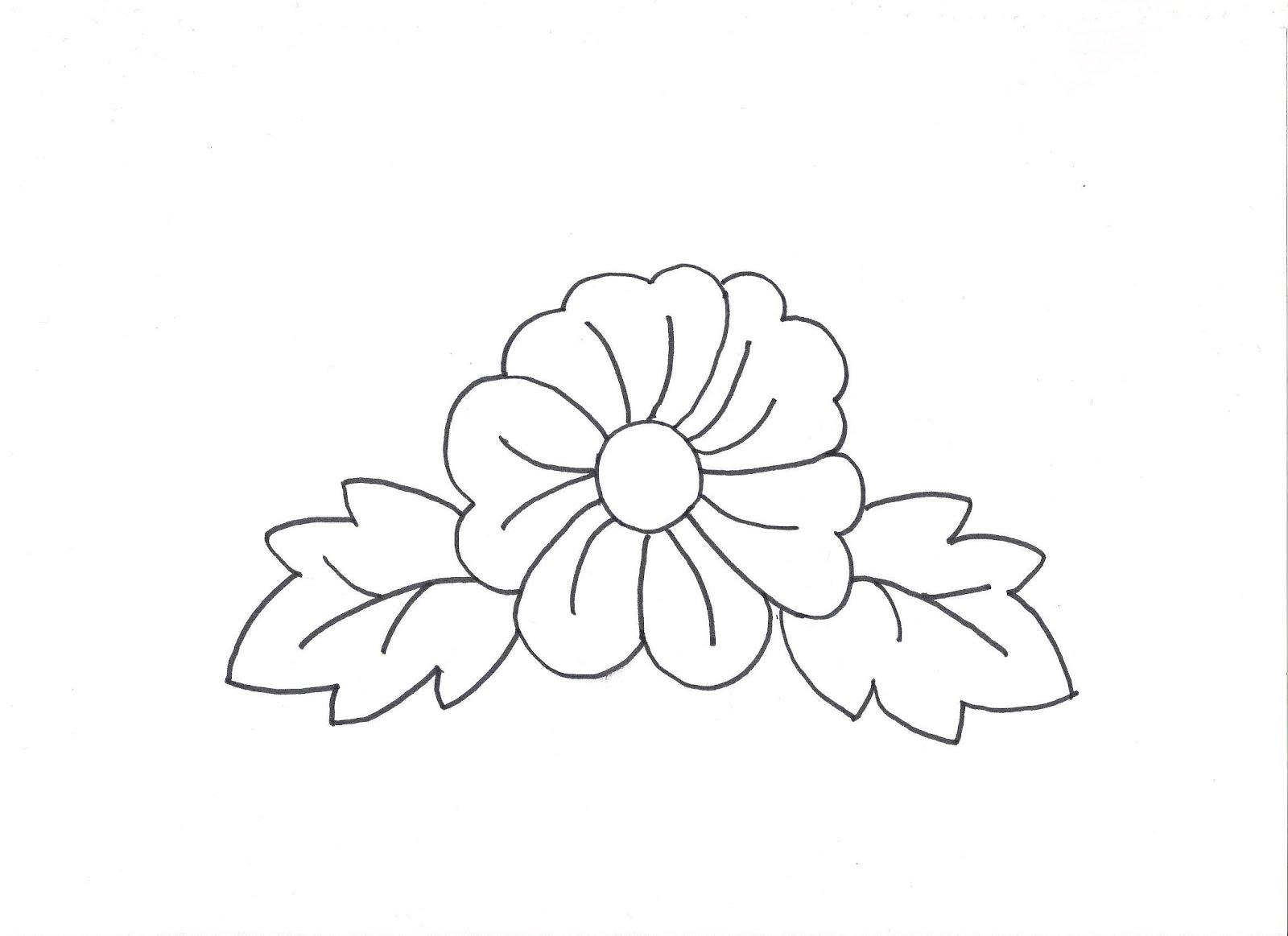 Dibujos de flores faciles