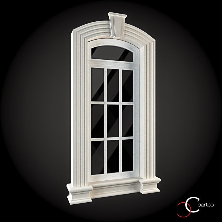 Ornamente Geamuri Exterior, fatade case cu profile decorative polistiren, profile fatada,  Model Cod: WIN-037