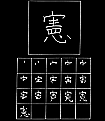 kanji konstitusi