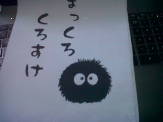 Totoro dust mites quilt