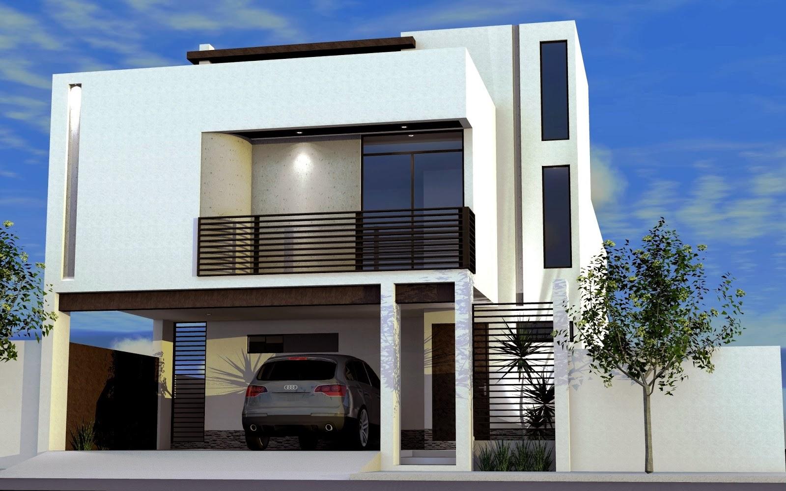 Fachadas de casas modernas fachada de casa moderna con for Fachadas de casas modernas