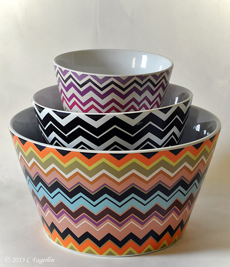 Missoni for Target - set of 3 ceramic bowls & The Little Round Table: Missoni