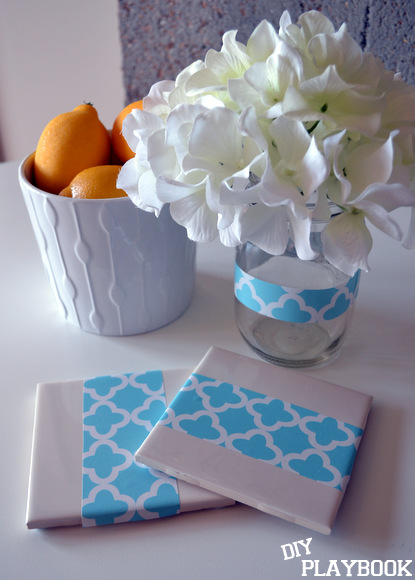 mason jars coasters shelf liner decoration: Antique Toolbox Makeover | DIY Playbook
