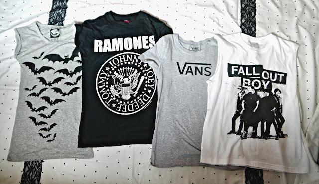 Clothing Haul t shirts bats ramones Vans Fall Out Boy