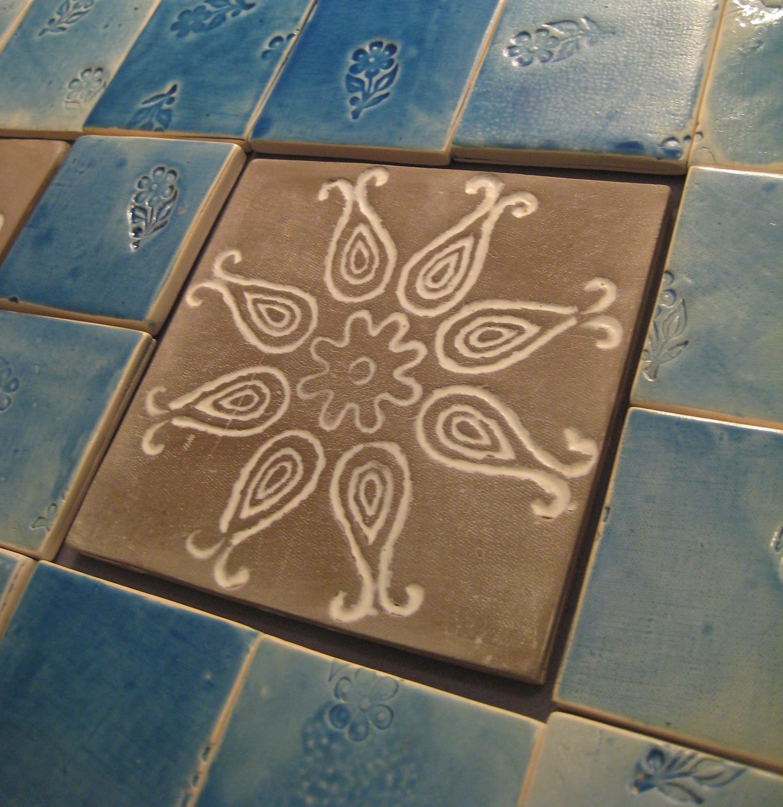 Mud hut company handmade india floor tiles for Deck tiles india