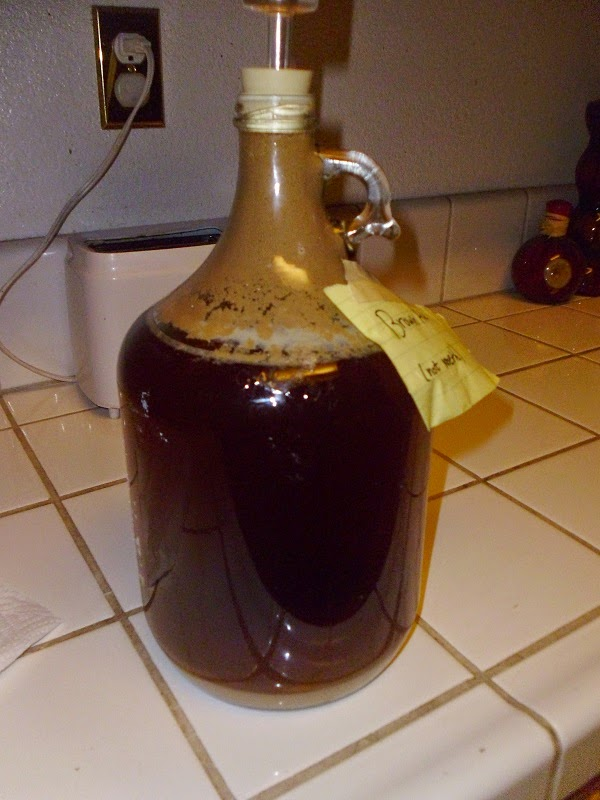 Finished beer carboy
