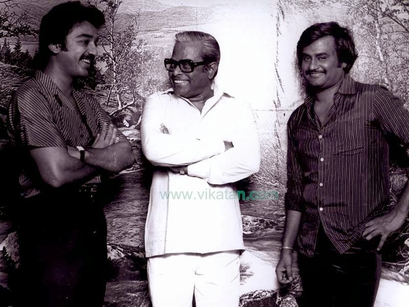 Rajinikanth & Kamalhasan with Director K. Balachander