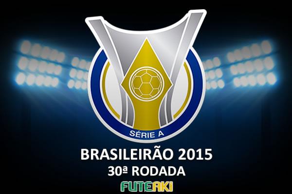 Veja o resumo da 30ª rodada do Brasileirão 2015, com vídeos dos gols e melhores momentos de cada partida