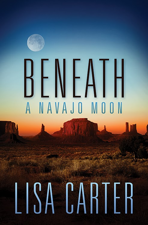 book review of Beneath A Navajo Moon by Lisa Carter (Abingdon Press) by papaertapepins