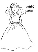 . Primera Comunión y de alta moda infantil. (vestido comuni colorear pintar manualidades ni os)