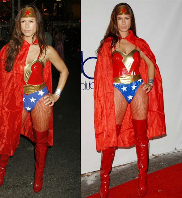 Rhona Mitra in Wonder Woman Costume for Halloween