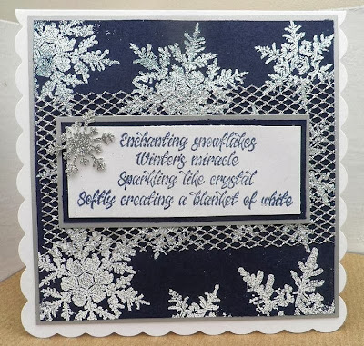winters miracle verse stamp - snowflakes stamps