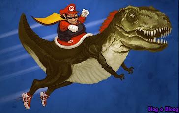 Super Mário com seu Dinosapatos