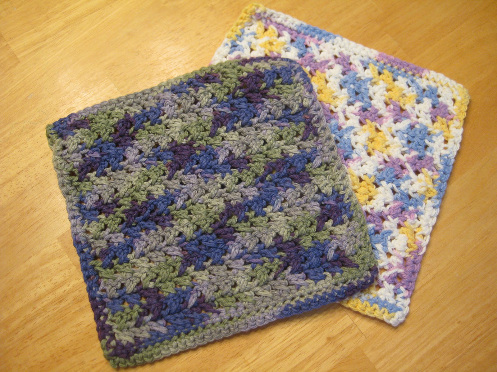 Free Crochet Pattern For Easy Dishcloth : Sisters Playing House