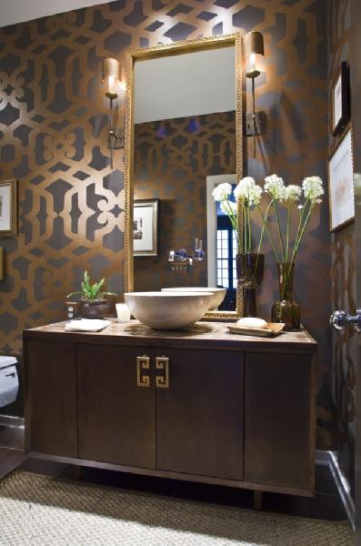 andrea hebard interior design blog bold powder room design