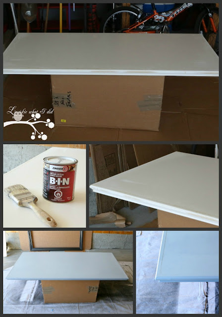 Paint DOES NOT ADHERE To Laminate At All. It Is Important To Prepare Your  Surface With A Primer/sealer. I Used Zinsser Primer Sealer And You Can Find  It At ...