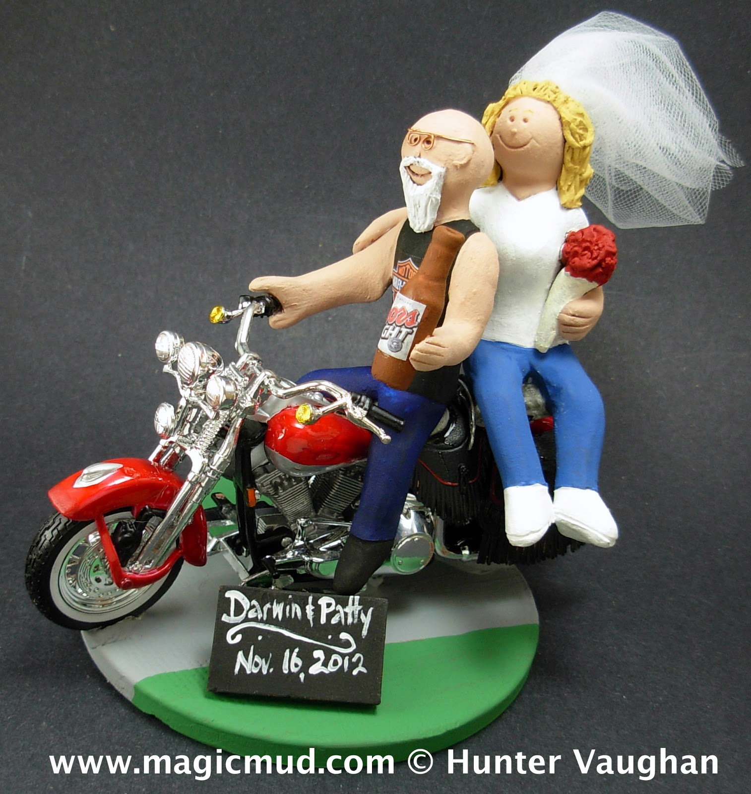 Pin Bald Groom Cake Topper Motorcycle By Magical Day New