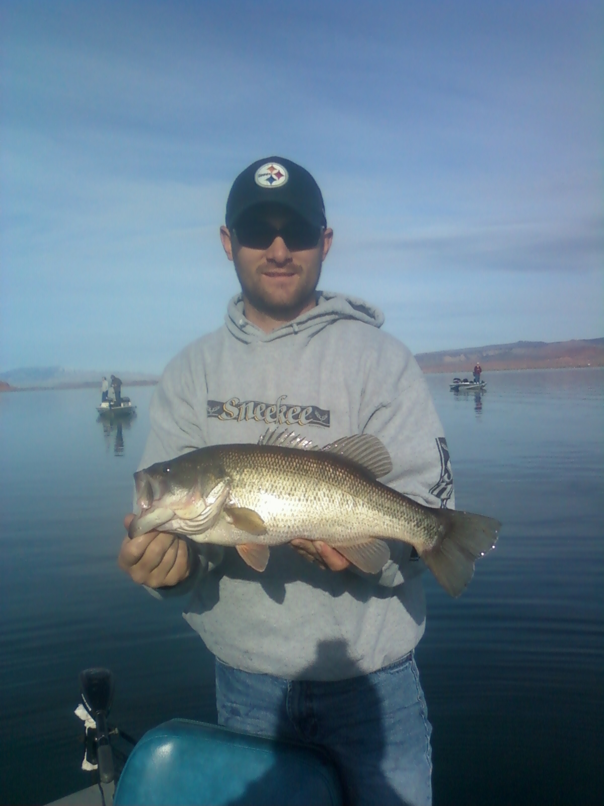 Southern utah fishing january 2012 for Sand hollow fishing report