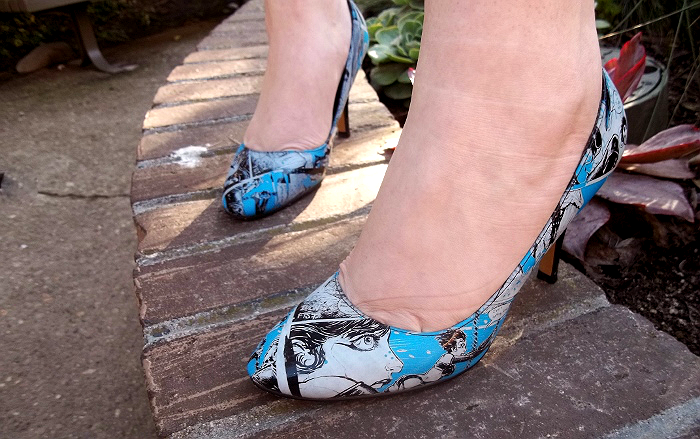 Blue Comic Book Heels