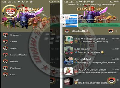 Ubdate BBM Mod BBFAI Tema Clash Of Clans (COC) v2.9.0.51 Apk