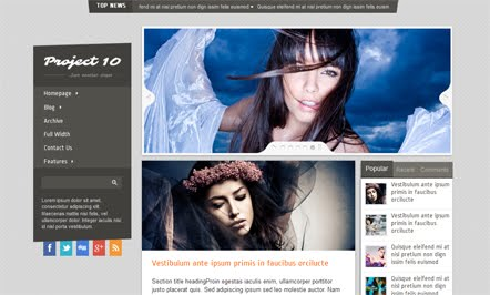 Project 10 Blogger Template