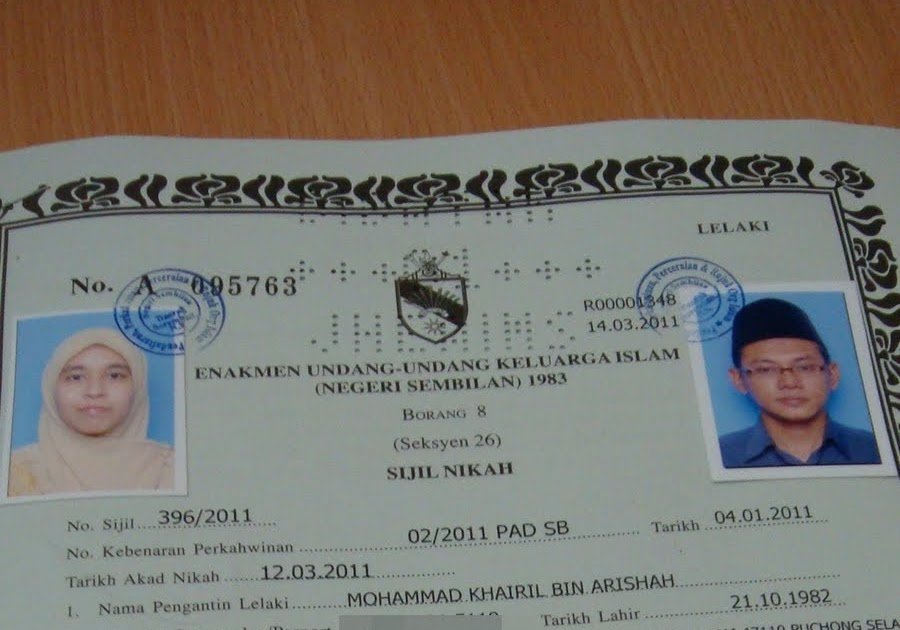 Our Road To 2011 And Beyond 141 Sijil Kad Nikah