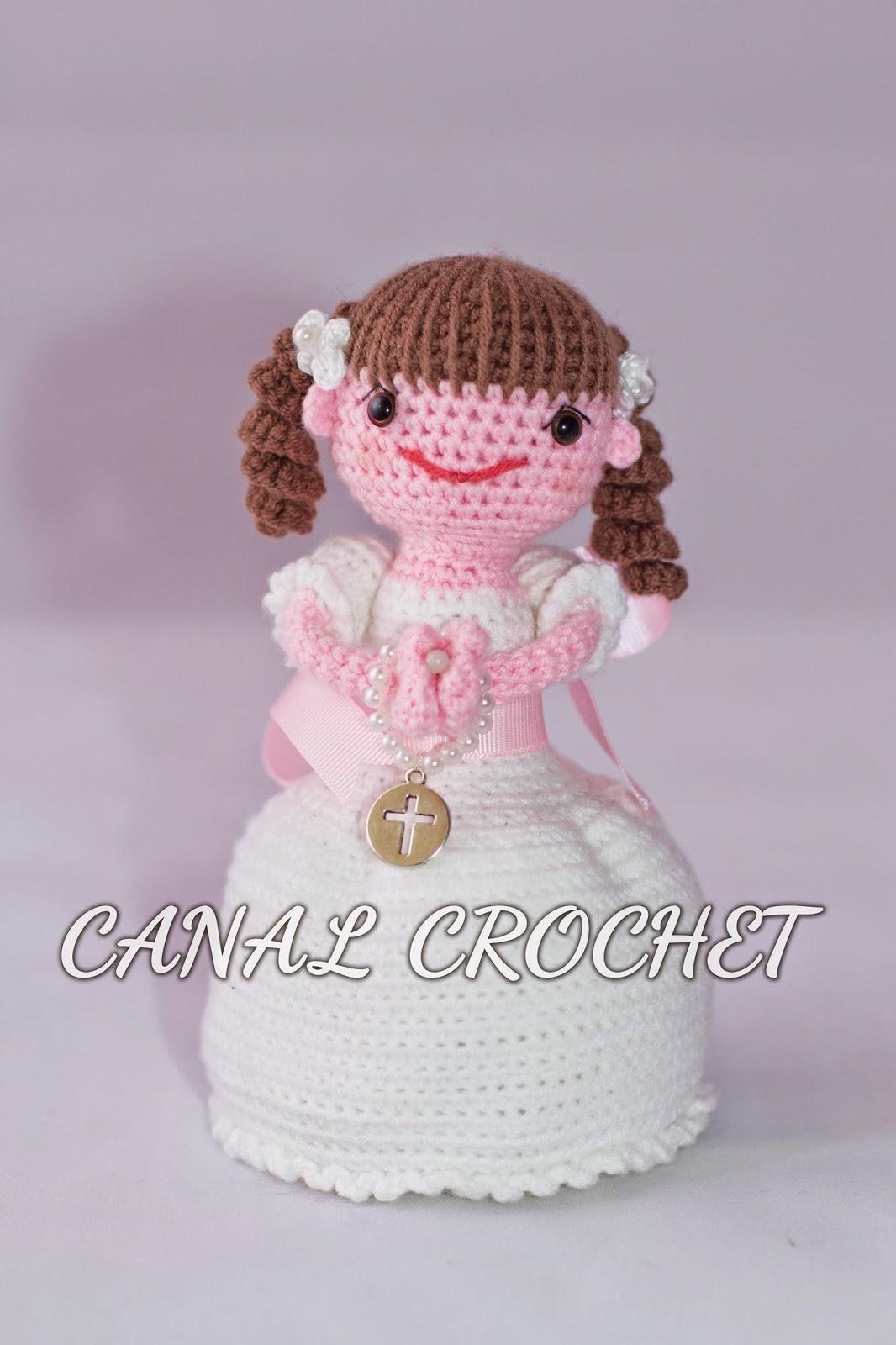 CANAL CROCHET: Muñeca comunión amigurumi patrón libre: