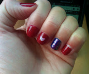 my attempt at one of the july 4th nails on pinterest